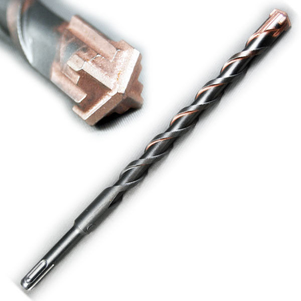 Cross Tipped SDS Plus Hammer Drill Bits For Concrete 130 Degree Point Angle